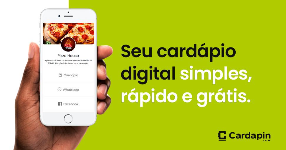 Cardápio Digital Grátis para Delivery, Restaurantes e Lojas